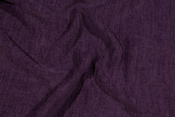 Dark purple, rugged-weave, beautiful furniturefabric with velvet surface