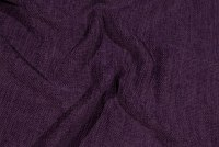 Dark purple, rugged-weave, beautiful furniturefabric with velvet surface