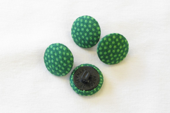 Dot buttons grass green