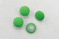 Dot buttons in lime color.