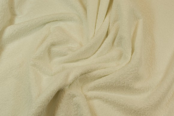 Double woven towel fabric in white