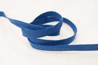 Herringbone woven cotton tape blue 1 cm