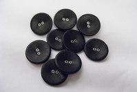 Leather buttons black ø 2.5 cm