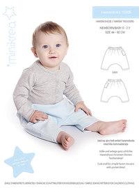 Harem pants, paper pattern. Minikrea 11305.