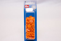Orange plastic press fasteners ø 12.4 mm