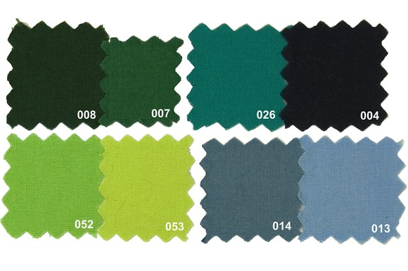 Sanfor cotton in greens colors