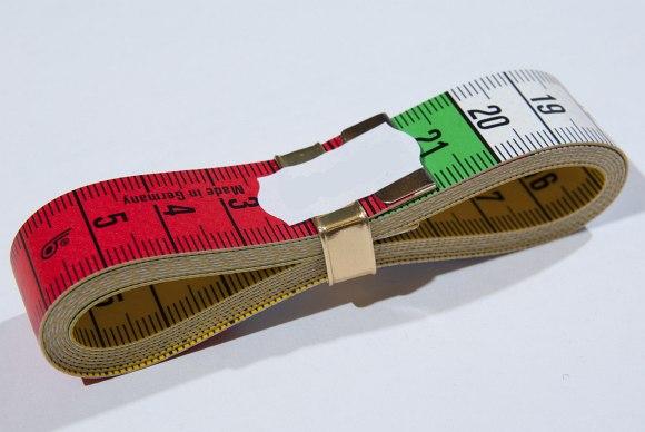 Tape measurer, 10 cm colored sections, 150 cm
