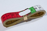 Tape measurer, 10 cm colored sections, 150 cm