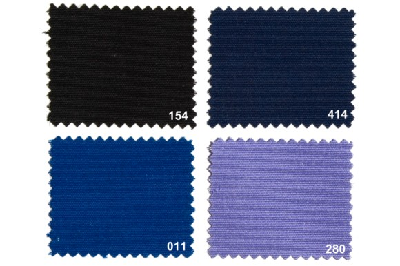 Texgard coated fabric for awnings, black, navy, cobolt,
