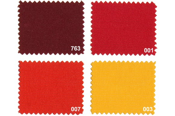 Texgard coated fabric for awnings, red nuances