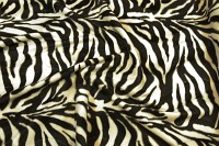 Zebra faux fur in beautiful natural-looking quality