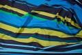 Longstriped home-textile blue- green colours