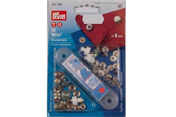 Mini press fasteners 8 mm