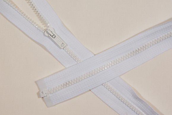 Sleeping bag zipper, dividable, plastic, 6 mm wide, 150 cm long