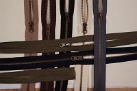 Jacket zipper, dividable, oxidized-metal, 6 mm bred, 70 cm long