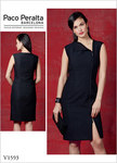 Fitted, lined, interfaced dress has two-way separating zipper closure.