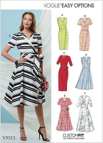 Dress and Sash - Vogue Easy Options, Custom Fit