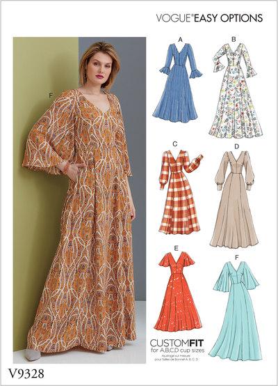 Misses' Dress - Vogue Easy Options, Custom Fit