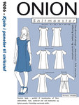Onion 9006. Dress in panels for knits.