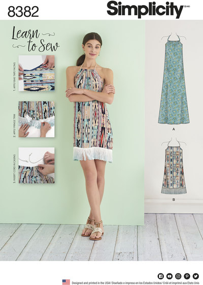 Halter Dress in Two Lengths