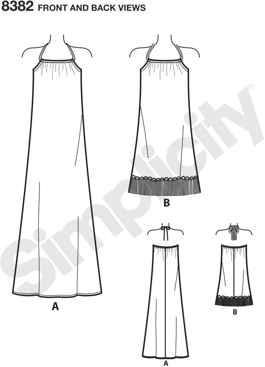 This learn to sew dress is perfect to make and wear to music festivals or any summer event. Halter dress in two lengths with optional fringe trim comes with our easy to follow step by step instructions. Learn how to make an elastic casing, apply a bias ta.