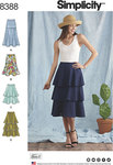 Skirts with Length and Flounce Variations