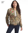 Create your own personalized bomber jacket. Style it in a variety of ways using fabrics such as brocade, denim, solid or printed silky types, leather and wool. Stitch or iron on patches or add embroidery to elevate the look. Pattern for flower applique sh
