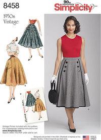 Simplicity 8458. Vintage Skirts.
