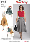 Simplicity 8458. Vintage Skirts.