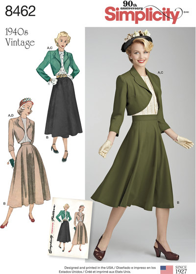 Vintage Blouse, Skirt and Lined Bolero