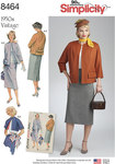 Simplicity 8464. Vintage Skirt and Lined Jacket in Two Lengths.