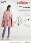 Simplicity 8473. Capes with Options for Design Hacking.