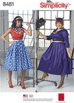 Simplicity 8481. Rockabilly Dresses.