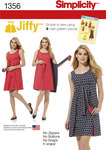 Simplicity 1356. Misses´ Jiffy® Reversible Wrap Dress.