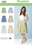 Simplicity 1369. Misses´ Skirts in Three Lengths.