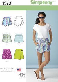Simplicity 1370. Misses´ Shorts, Skort and Skirt.