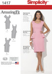 Misses´ and Women´s Amazing Fit Peplum Dress