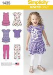 Simplicity 1435. Child´s Knit Dresses, Top and Capri Leggings.