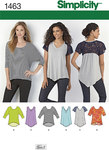 Misses Knit Tops, v-neck, lace sleeves