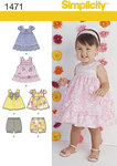 Babies Dress, Top and Bloomers