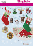 Felt Ornaments, Wall Hangings, Stocking and Tree Skirt
