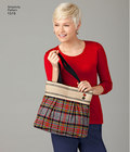 These two stylish bags and matching clutch by Sweat Pea Totes will hold everything you need while out and about. Simplicity sewing pattern.