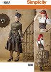 Simplicity 1558. Misses´ Steampunk Costume.