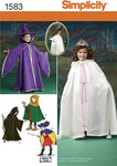 Simplicity 1583. Child´s Caped Costume.