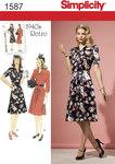 Misses´ & Miss Petite 1940´s Vintage Dress