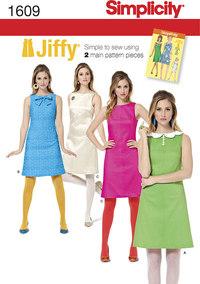 Simplicity 1609. Misses´ Jiffy 1960´s Vintage Dress.
