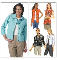 Jackets and tops. Butterick 5616.