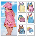 Butterick 5625. Infants´ Romper, Jumper, Panties and Hat.