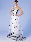 Strapless Dress, Detachable Train and Belt