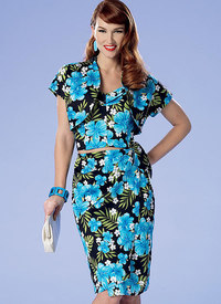 Petite Bolero, Bustier, Sarong and Shorts. Butterick 6354.